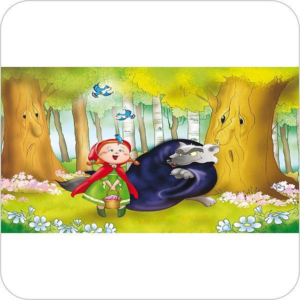 Painel de Festa Infantil Chapeuzinho Vermelho e o Lobo Mau