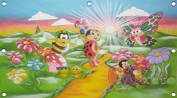 Painel para decoração de festa infantil - Joaninha