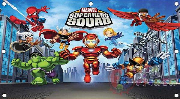 Painel para decoração de festa infantil - Marvel Herois Squad