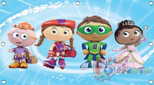 Painel para decoração de festa infantil - Super Why