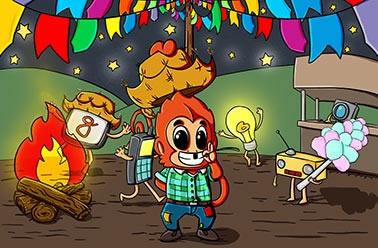 Painel para decoração de festa infantil  - Festa Junina - Macaquinho