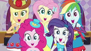 Painel para decoração de festa infantil  -  Equestria Girl - Turma Completa