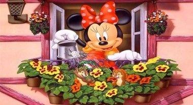 Painel em lona para festa infantil Minnie