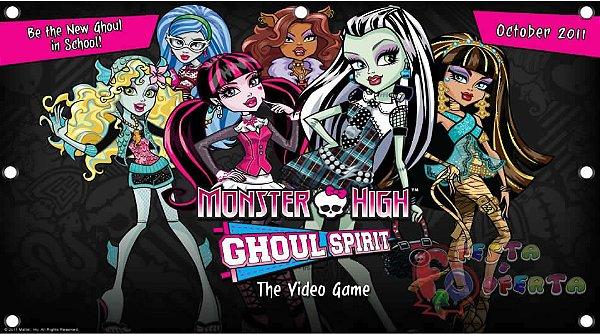 Painel para decoração de festa infantil - Monster High