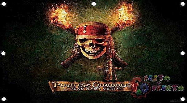 Painel para decoração de festa infantil - Piratas do Caribe