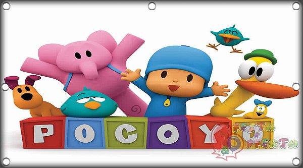 Painel para decoração de festa infantil - Pocoyo