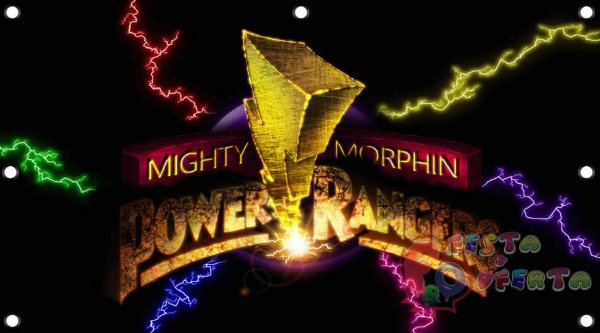 Painel de festa infantil - Power Rangers