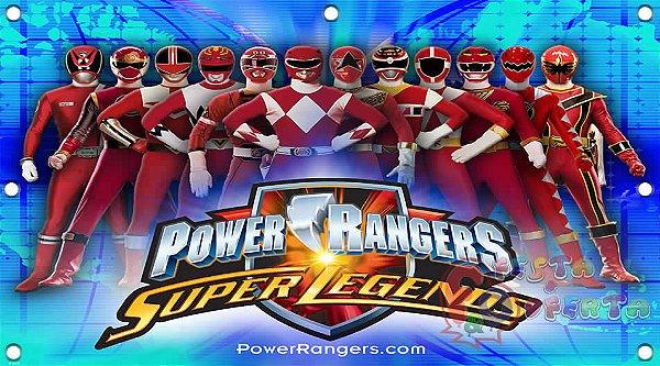 Painel para decoração de festa infantil - Power Rangers