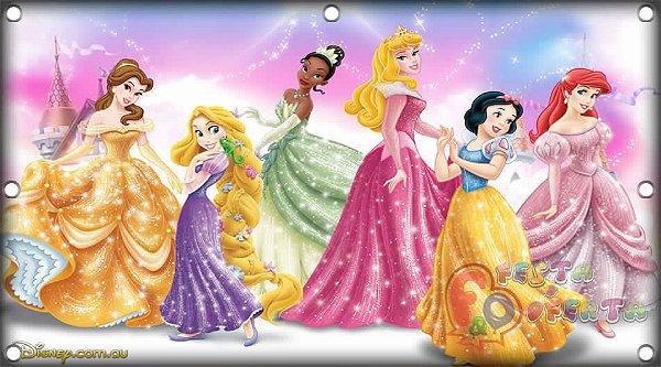 Painel para decoração de festa infantil - Princesas Disney