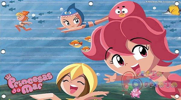 Painel para decoração de festa infantil - Princesas do Mar