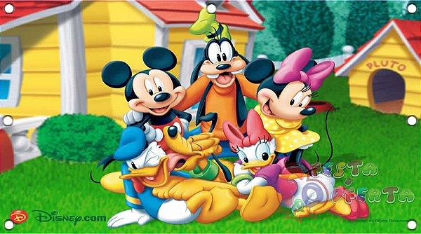 Painel para decoração de festa infantil - Turma da Disney