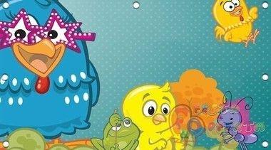 Painel de Festa Galinha Pintaadinha e seus Amigos Infantil