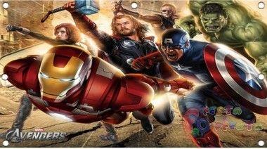 decoração vingadores The Avengers filme painel infantil