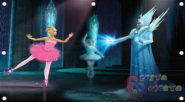 Painel para decoração de festa infantil - Barbie Sapatilhas Mágicas
