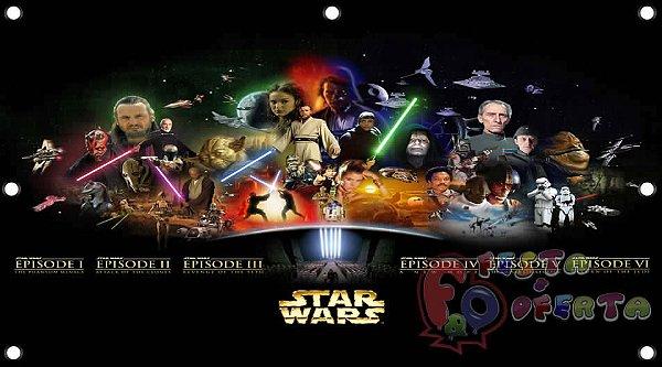 Painel para decoração de festa infantil - Star Wars
