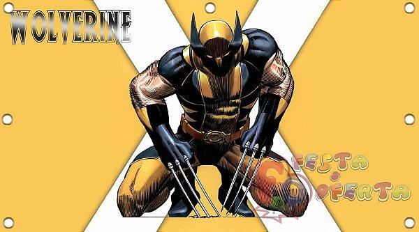 Painel para decoração de festa infantil - Wolverine