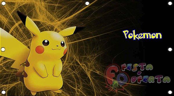 Painel para decoração de festa infantil - Pokemon