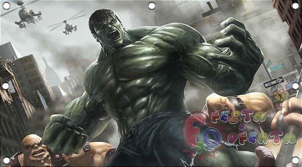 Painel de festa infantil - Hulk