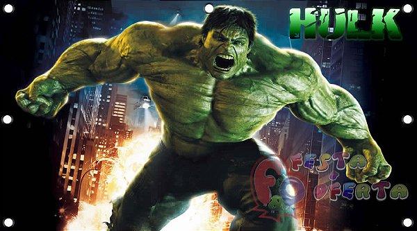 Painel para decoração de festa infantil - Hulk