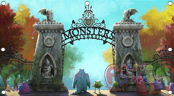 Painel para decoração de festa infantil - Universidade de monstros