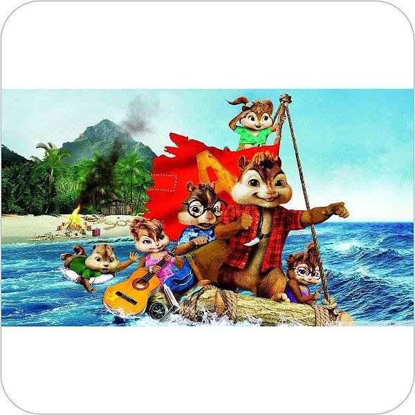 Painel de Festa Infantil Alvin e os Esquilos Navegando