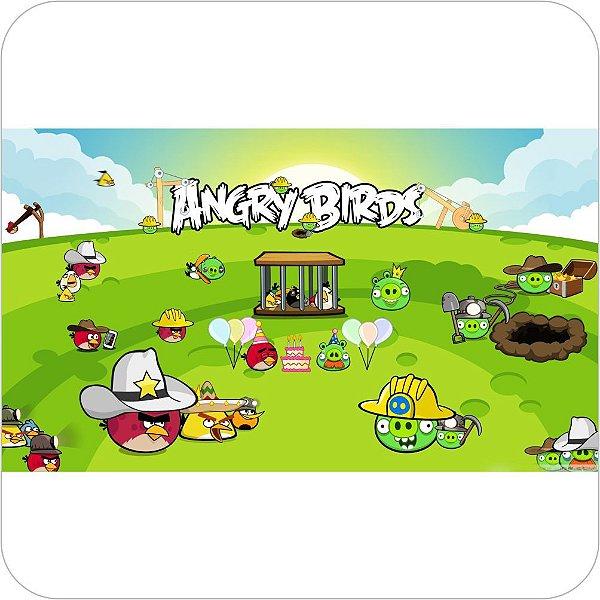 Painel de Festa Infantil Angry Birds - Birds & Pigs