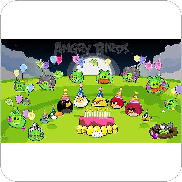 Painel de Festa Infantil Angry Birds Aniversário