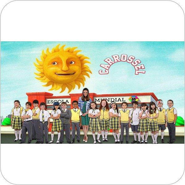Painel de Festa Infantil Carrossel - Escola
