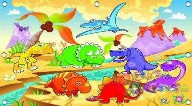 Painel para festa de aniversário tema Dinossauros