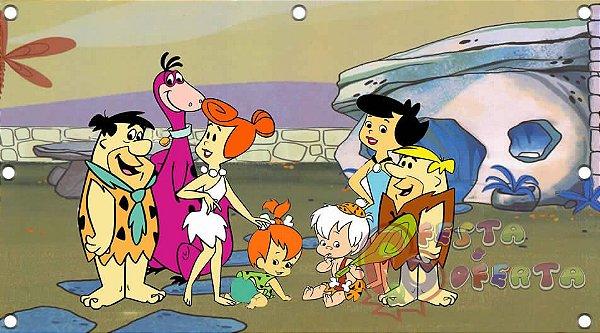 Painel para decoração de festa infantil  - Flintstones