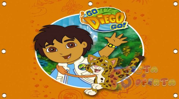 Painel para decoração de festa infantil  - Diego Go