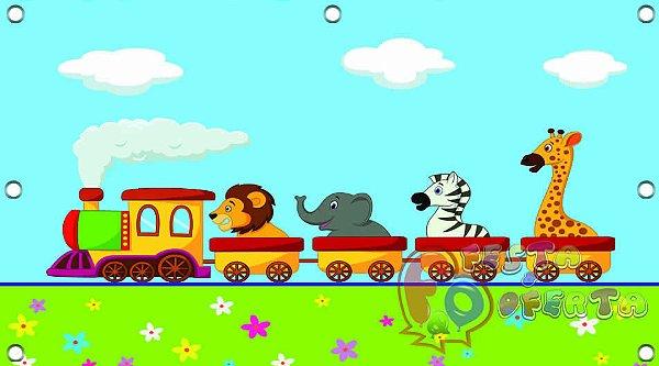 Painel para decoração de festa infantil - Floresta Encantada - Safari