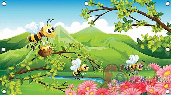 Painel para decoração de festa infantil - Abelhinhas