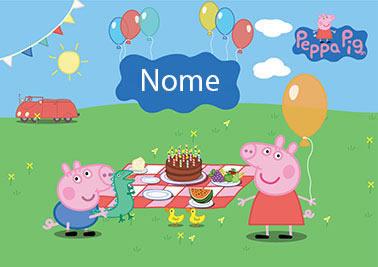 Painel de Festa Peppa Pig Personalizado