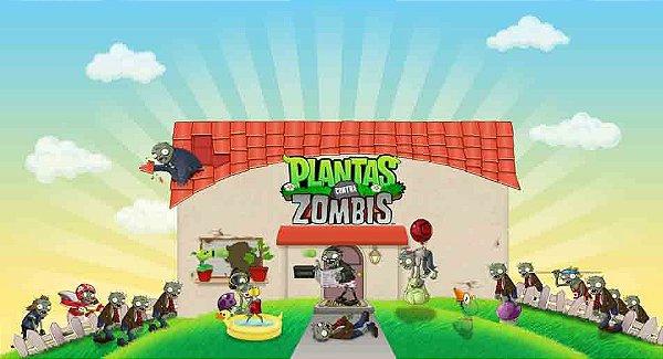 Painel para decoração de festa infantil  - Plants vs Zombies