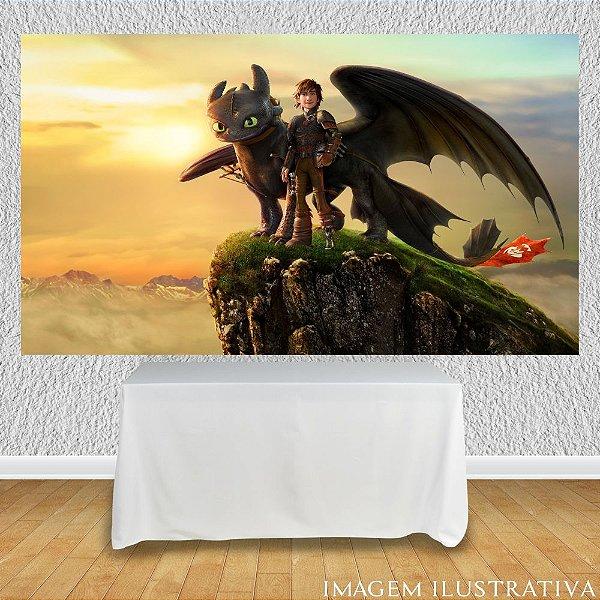 Painel de Festa Infantil Como Treinar Seu Dragão - Soluço e Banguela