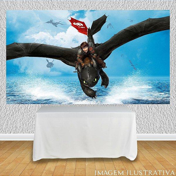Painel de Festa Infantil Como Treinar Seu Dragão - Banguela Voando
