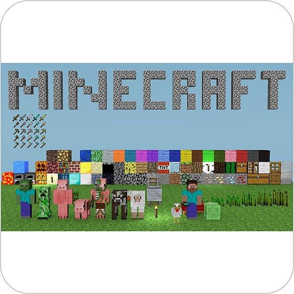Painel de Festa Infantil Minecraft - Itens e Personagens