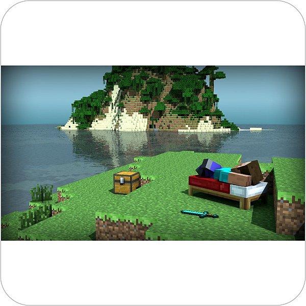 Painel de Festa Infantil Minecraft - Ilha