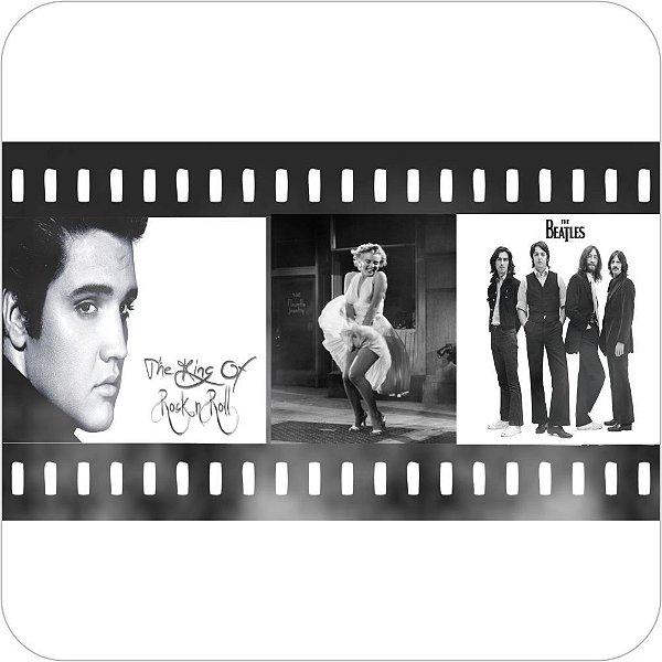 Painel de Festa Infantil Anos 60, 70, 80 e 90 - Presley, Monroe & Beatles