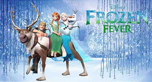 Painel de Festa Frozen Infantil  -  Frozen Fever
