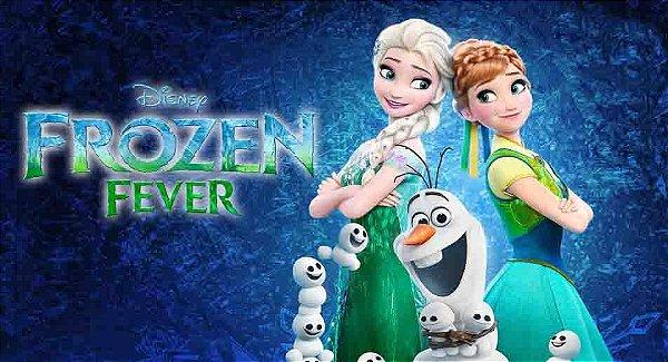 Painel de Aniversario Frozen Fever