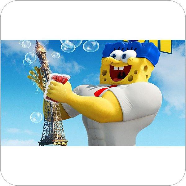 Painel de Festa Infantil Bob Esponja 3D - Torre Eiffel