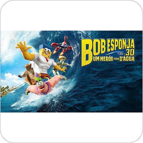 Painel de Festa Infantil Bob Esponja 3D - Surfando