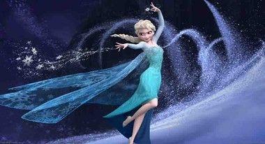 Painel de Festa Frozen Princesa Elsa decoração com fundo azul
