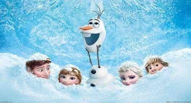 festa frozen turma toda com fundo em neve