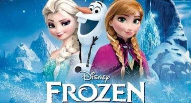 Painel de Aniversario Frozen - Elsa e Ana nas montanhas