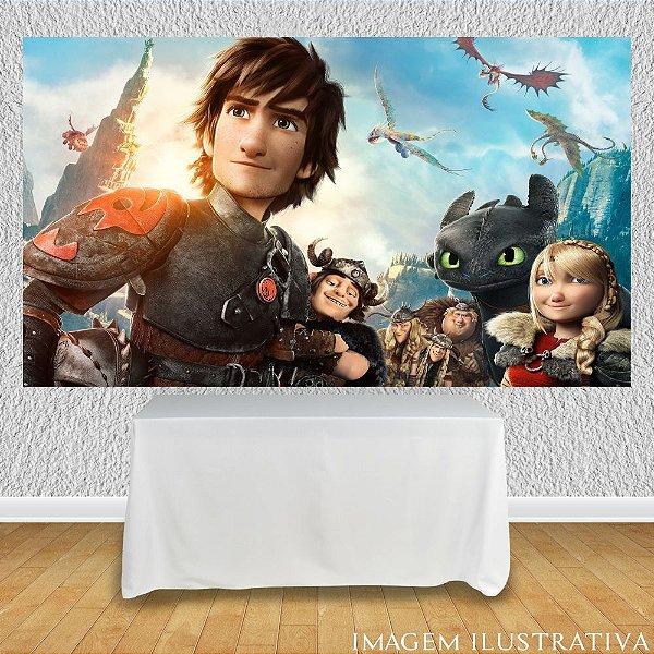 Painel de Festa Infantil Como Treinar Seu Dragão O Filme