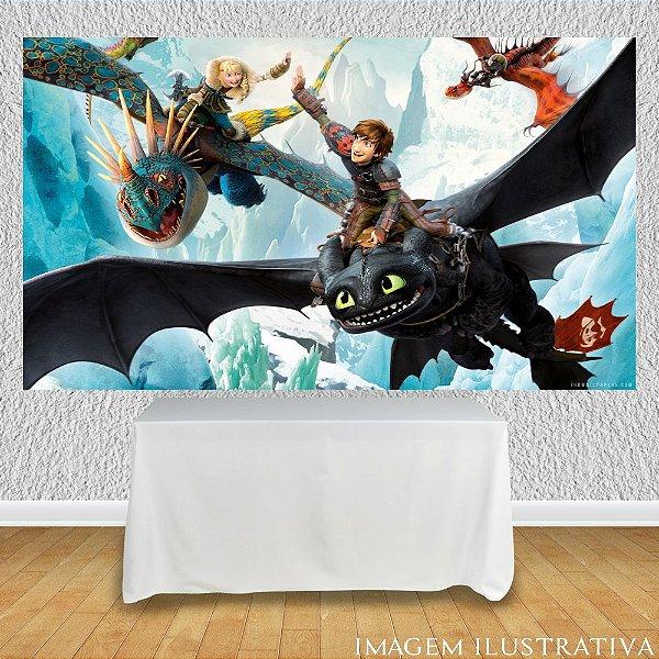 Painel de Festa Infantil Como Treinar Seu Dragão - Amigos e Dragões