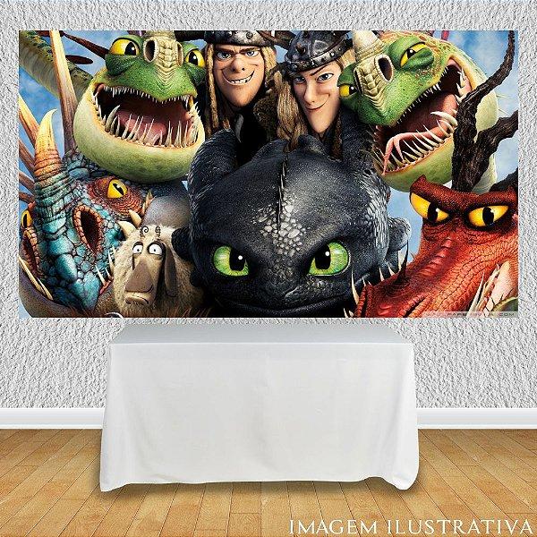 Painel de Festa Infantil Como Treinar Seu Dragão - Personagens II